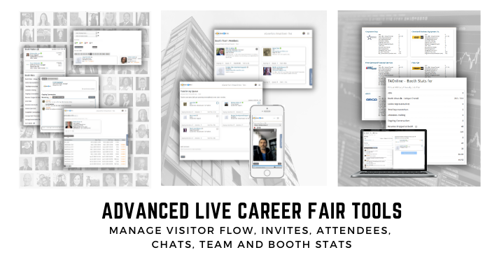 Advanced live career fair tools