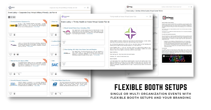 Flexible booth setups